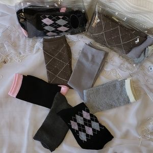 Womens argyle crew socks
